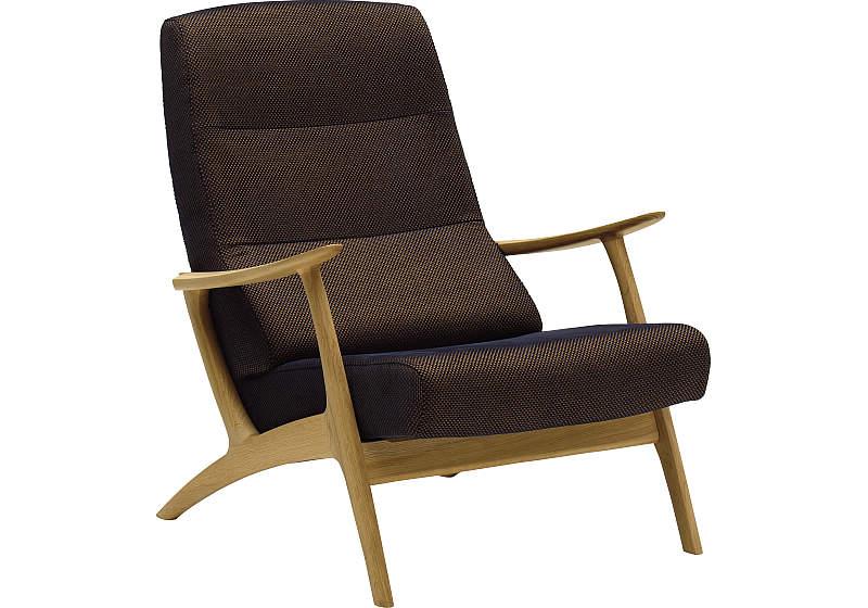 カリモクの椅子の画像