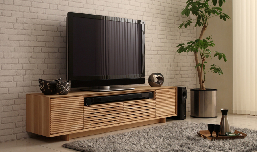 カリモクのテレビボードの画像