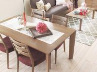 カリモクのダイニングテーブルの画像